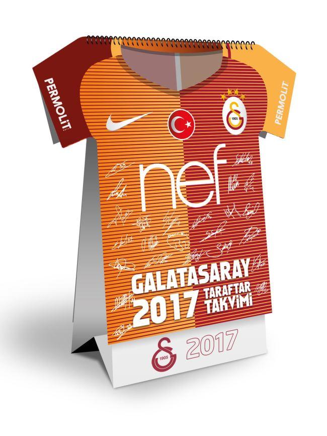 U75886 Galatasaray Forma Kesimli Taraftar Takvimi (GS16TKV)