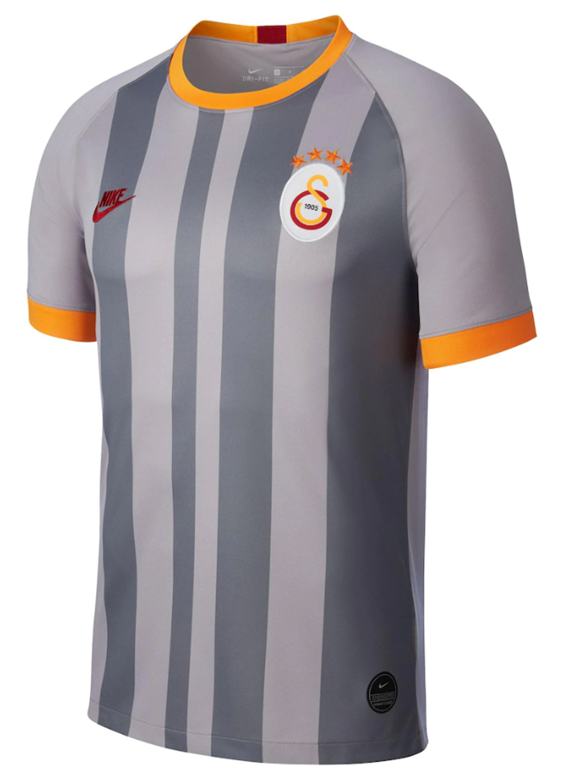 NIKE GALATASARAY GRİ ALTERNATİF MAÇ FORMASI 19-20 AT0030-060