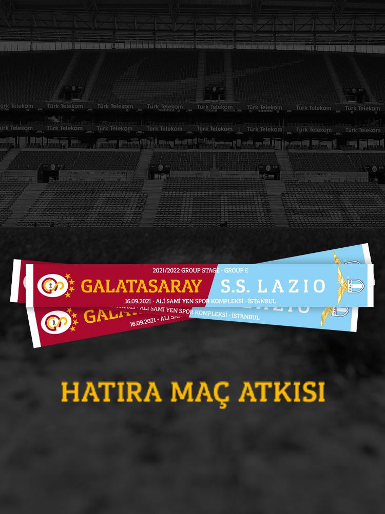 Galatasaray Lazio Hatıra Maç Atkısı