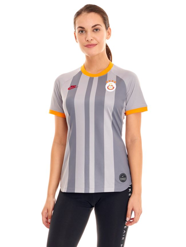 NIKE GALATASARAY GRİ ALTERNATİF MAÇ KADIN FORMASI 19-20 AT2517-060