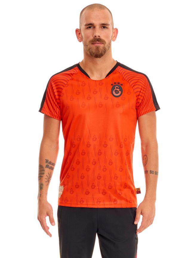 Galatasaray Sarıyla Kırmızı Taraftar Erkek T-shirt E191205