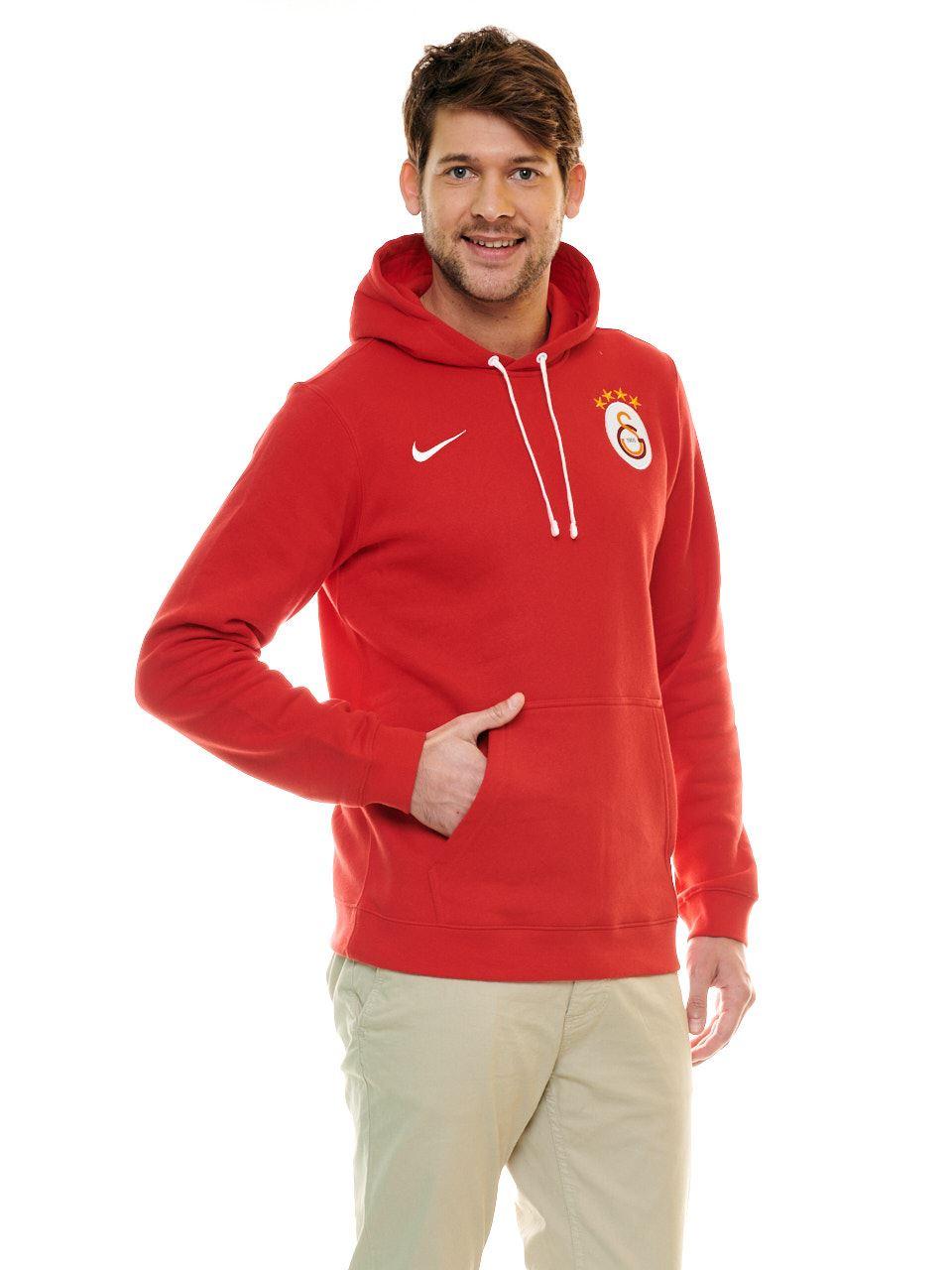 Nike Galatasaray Kapşonlu Sweatshirt (Kırmızı) Ar3239-657