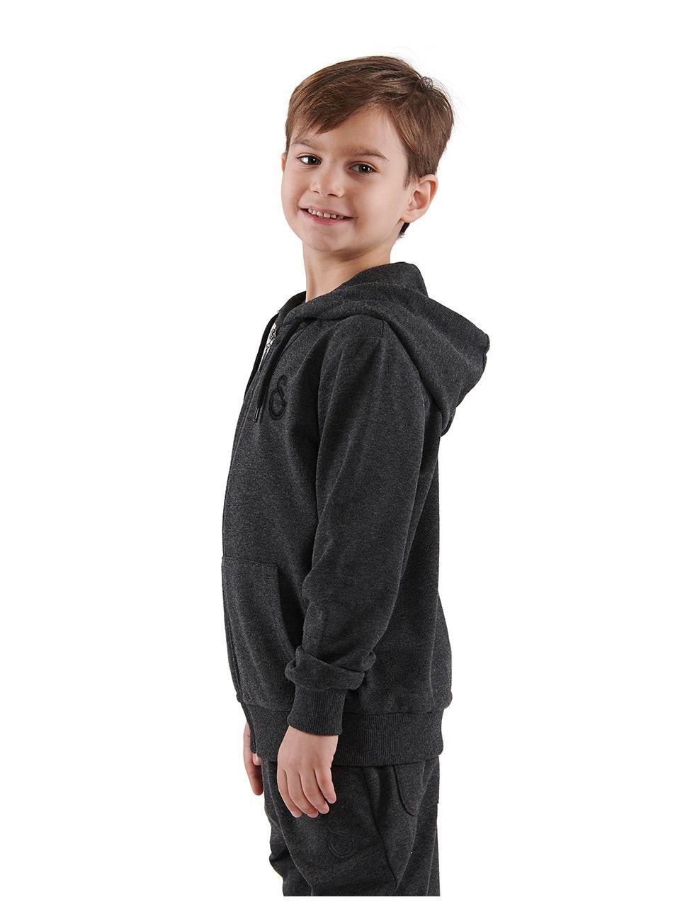 C77018 Fermuarlı Sweatshirt