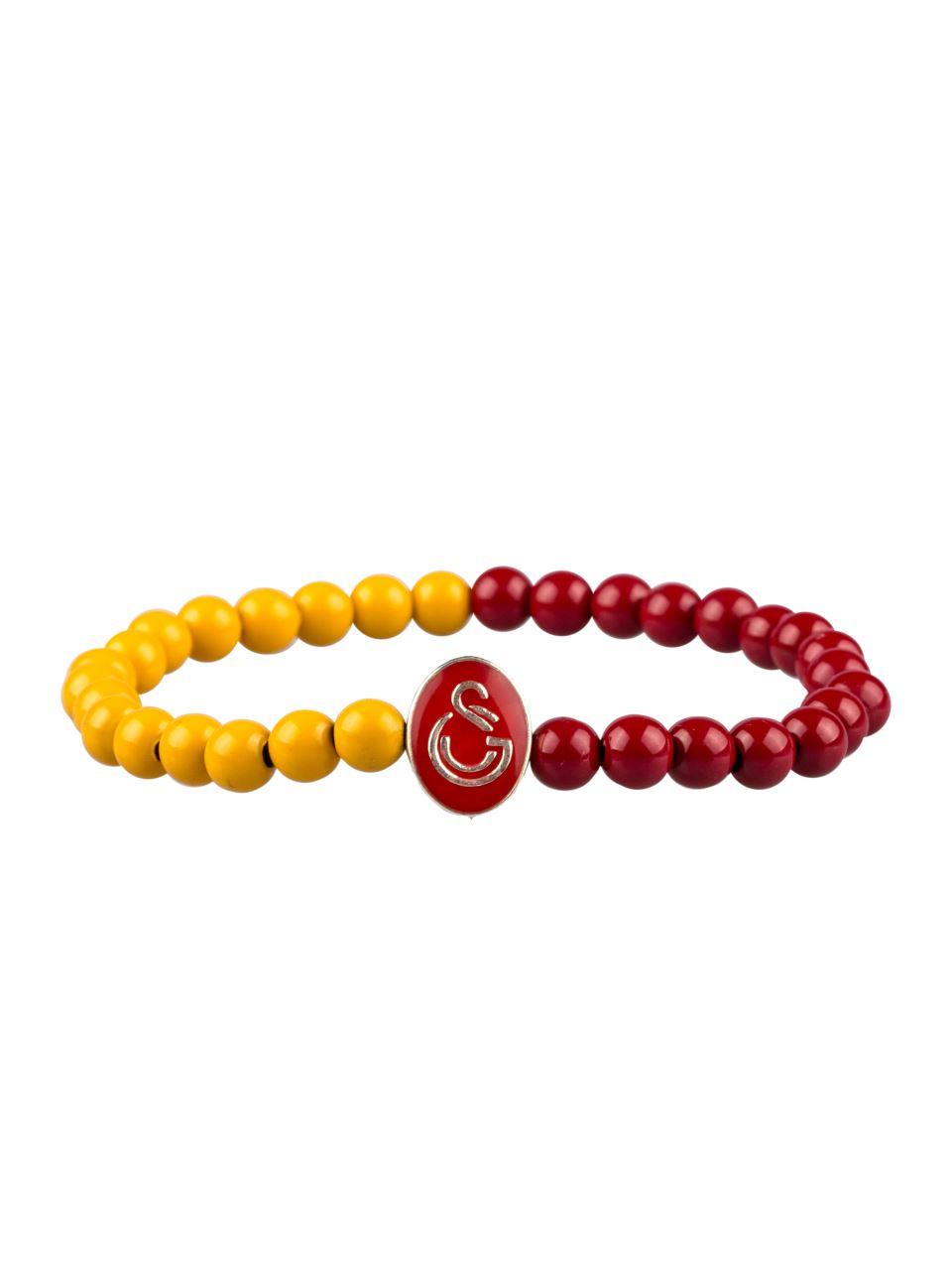 U65311 Boncuk Bileklik Sarı Kırmızı