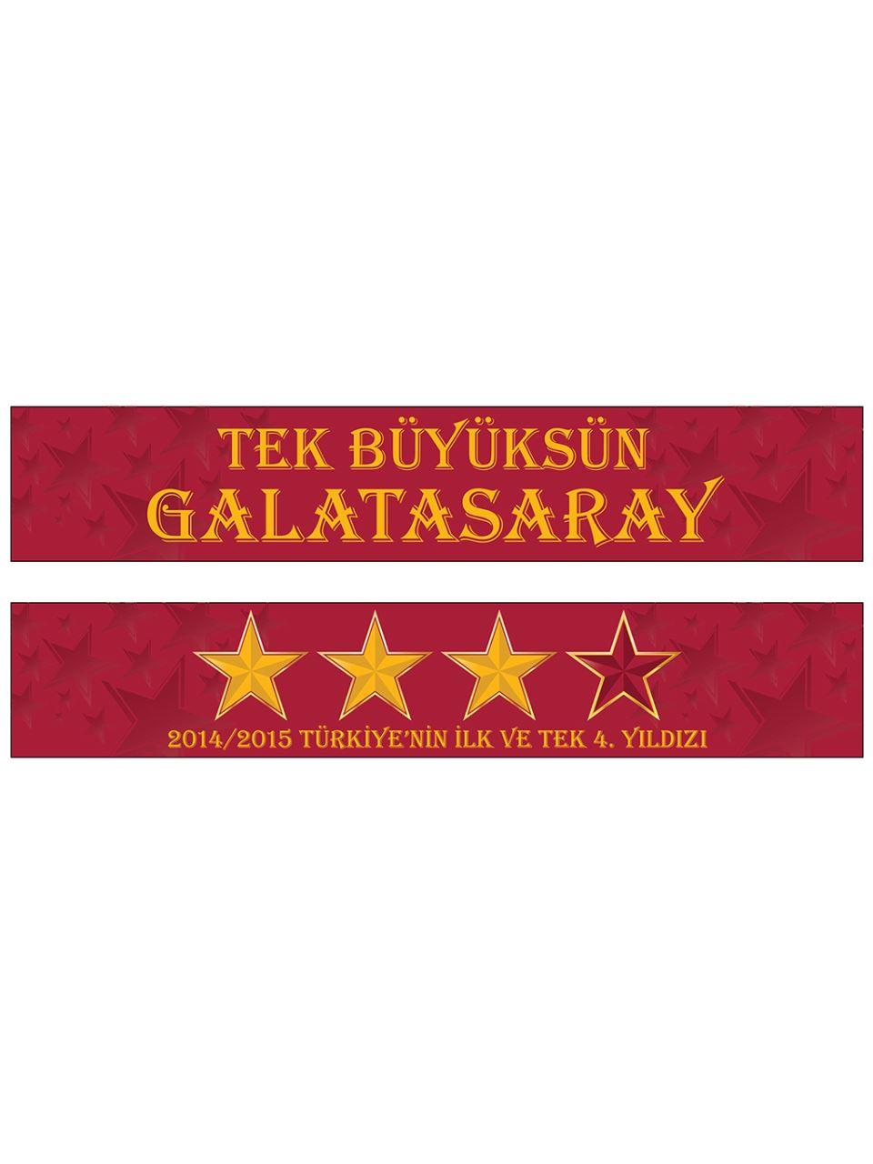 U60325 2014/2015 Türkiye`Nin İlk Ve Tek 4. Yıldızı Şal Atkı